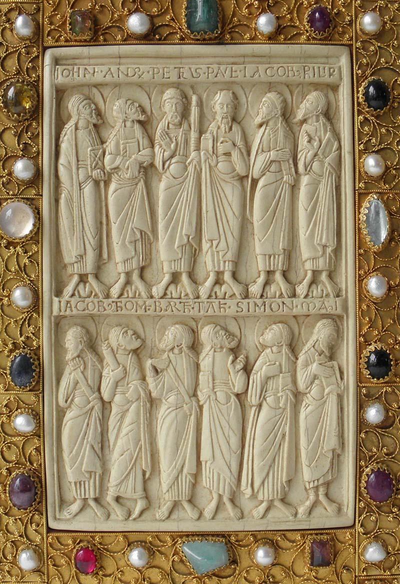 Prachteinband für ein mittelalterliches Buch