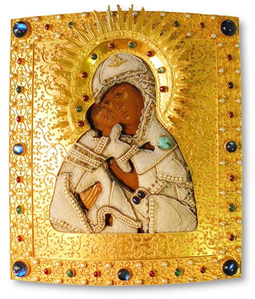 Oklad f�r Vladimirskaya Ikone